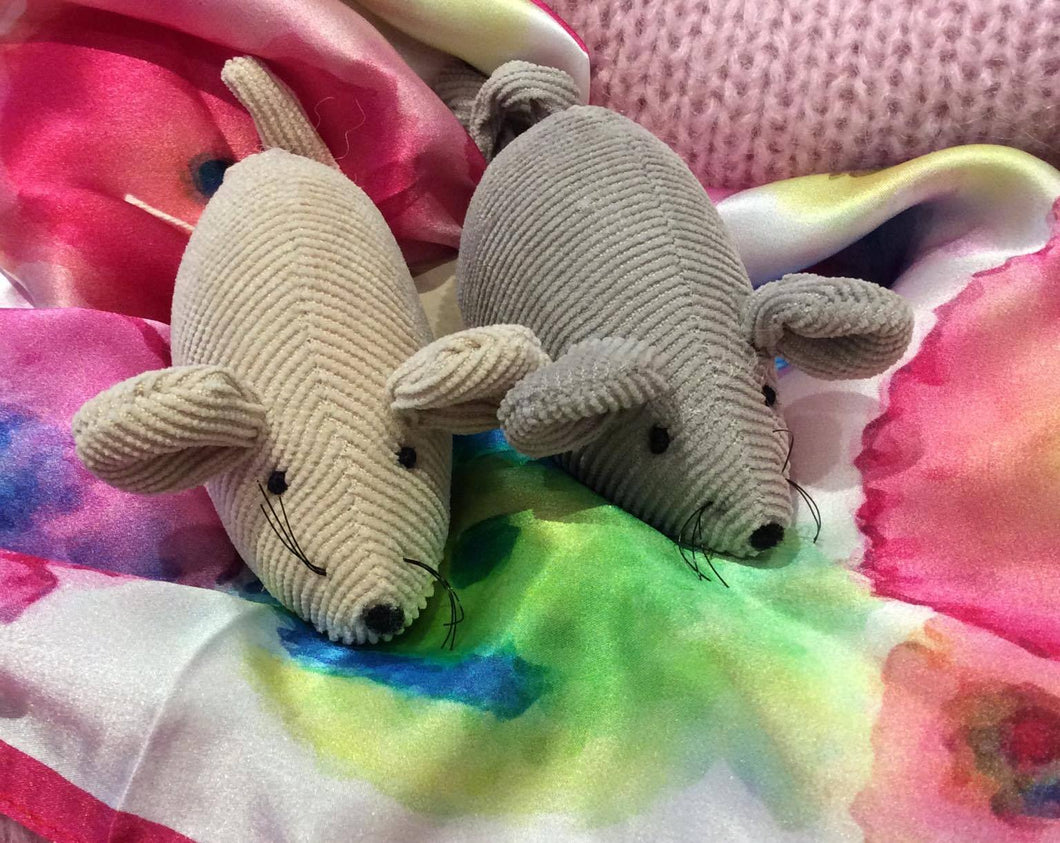 Pair of Corduroy Mice