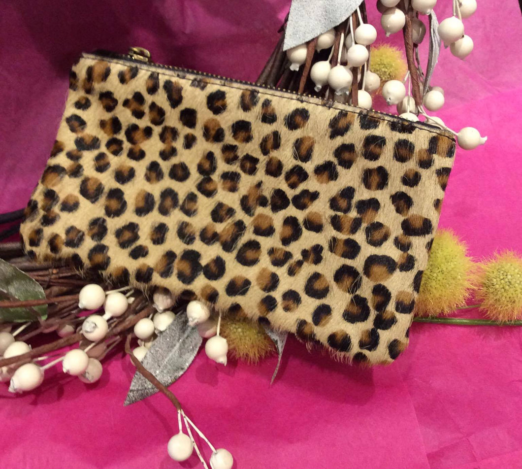 Animal Print Oblong Leather Clutch Purse (4 prints available)