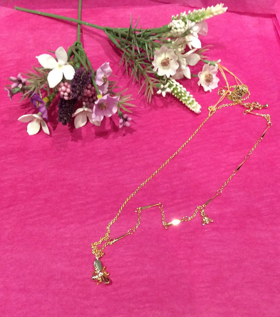 Bee Necklace (Gold)