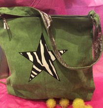 Load image into Gallery viewer, Corduroy Tote Bag with Zebra Star (2 colours available)