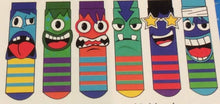 Load image into Gallery viewer, The Mashers Odd Boxed Socks 6 pairs - Boys Large