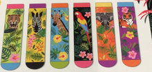 Load image into Gallery viewer, Jungle Fever 6 Odd Boxed Socks Ladies - Sizes 4-8