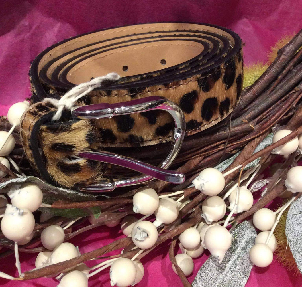 Leopard-Print Belt (brown or grey)