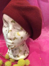 Load image into Gallery viewer, Cashmere mix plain beret (3 colours available)