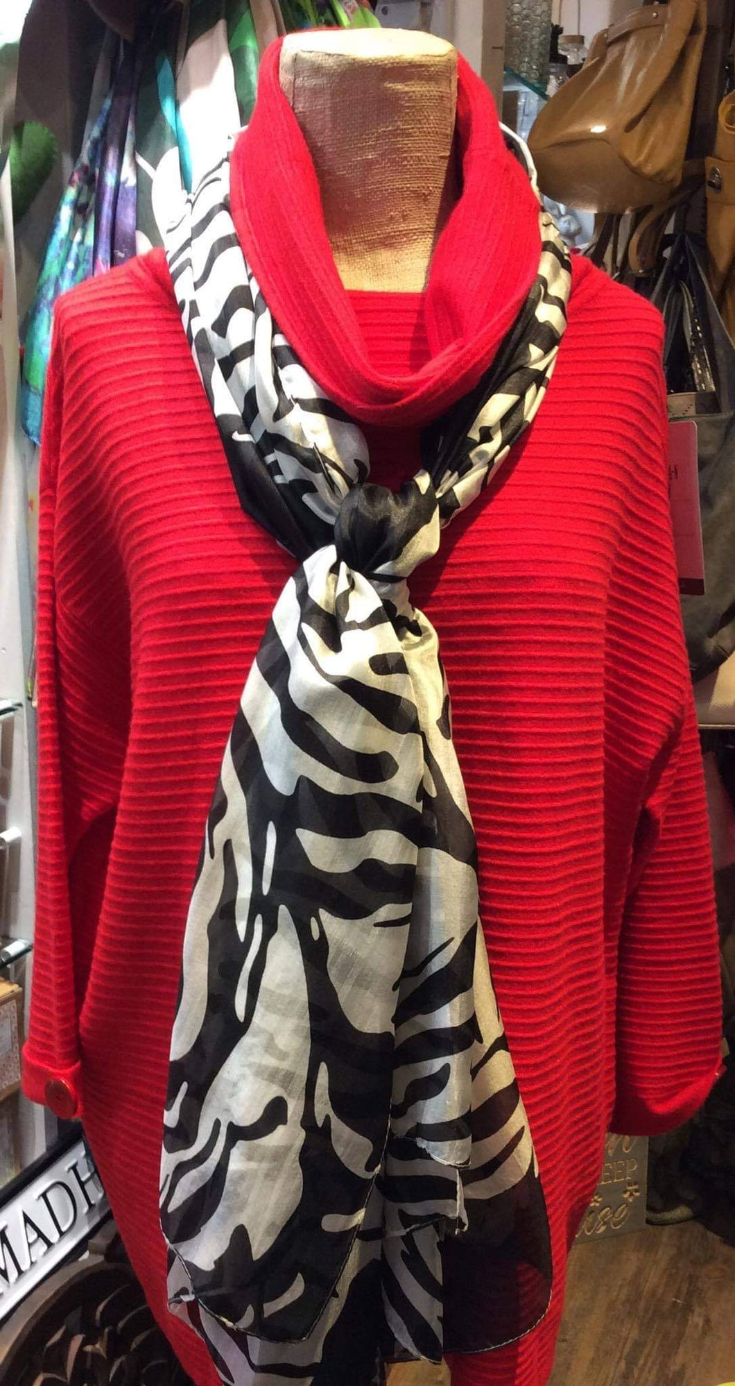 Red Cowl Neck Jumper