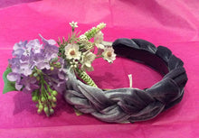 Load image into Gallery viewer, Velvet Plait Hairband (2 colours available)