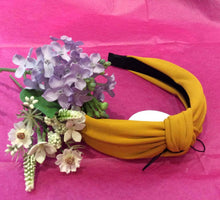 Load image into Gallery viewer, Plain Cotton/Lycra Hairband (2 colours available)