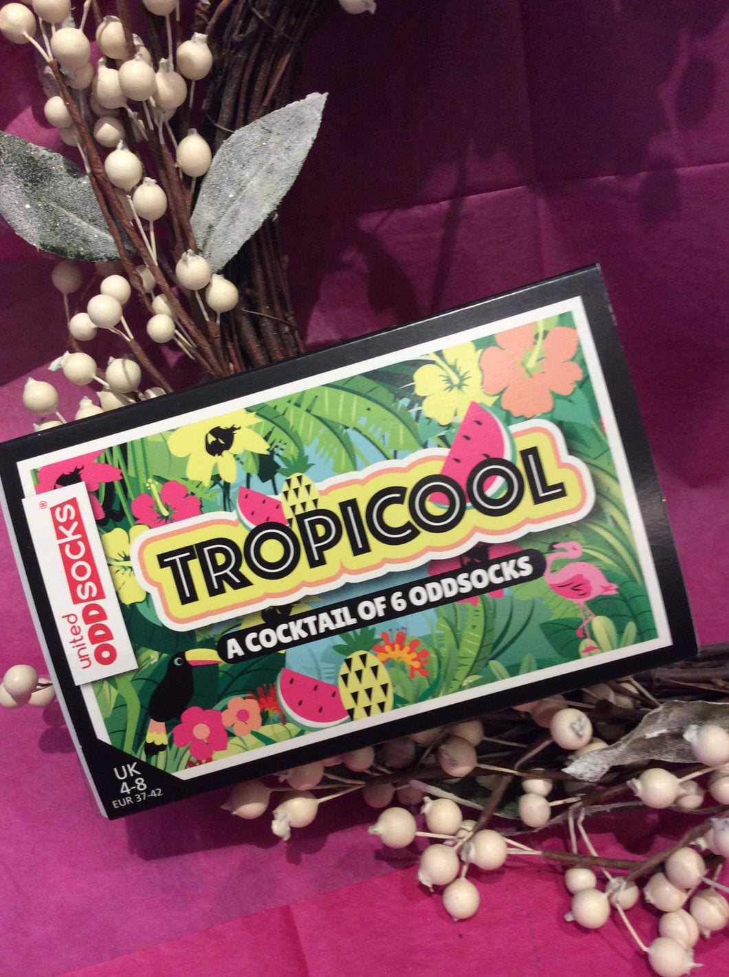Tropicool 6 Odd Boxed Socks Ladies - Sizes 4-8