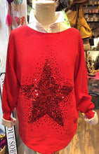 Load image into Gallery viewer, Sequin Star Jumper