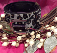 Load image into Gallery viewer, Leopard-Print Belt (brown or grey)