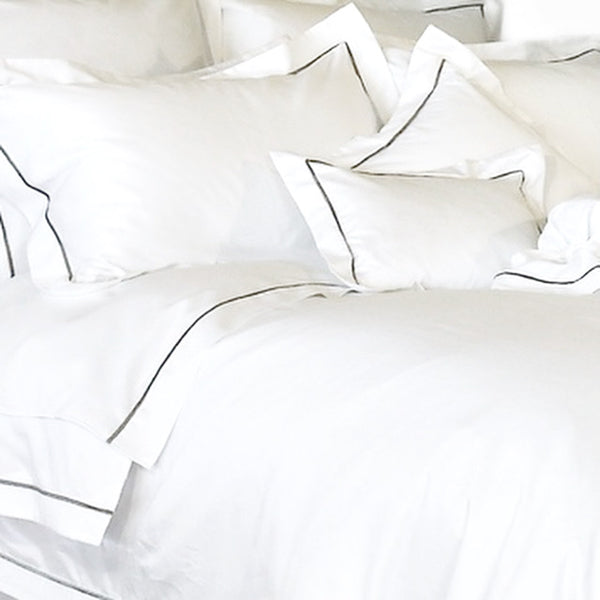 White - Imperial Hotel Luxury Pillowcases - 100% Egyptian Cotton Sateen