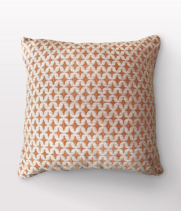 "Noa Ochre Throw Pillow - 22"" x 22"""