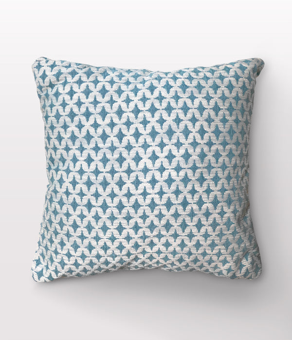 "Noa Teal Throw Pillow - 22"" x 22"""