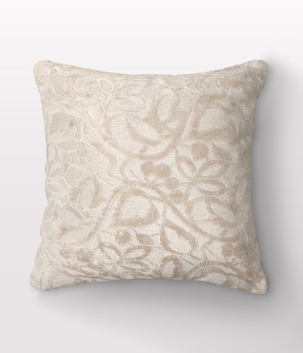 "Etta Vanilla Throw Pillow - 22"" x 22"""