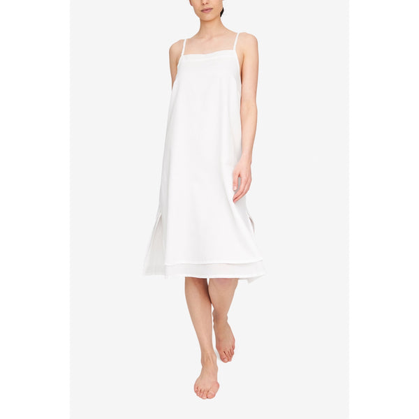 Two Layer Dress Milano Featherweight Blend - White