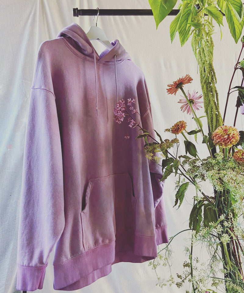 Oversized Natural Dyed Hoodie - Lavender