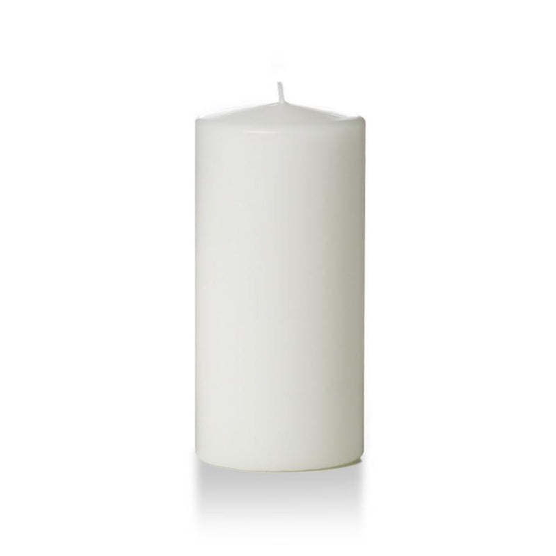 "3"" x 8"" Pillar Unscented Candles -  White - Pack of 3"