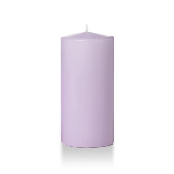 "3"" x 8"" Pillar Unscented Candles -  Lavender - Pack of 3"