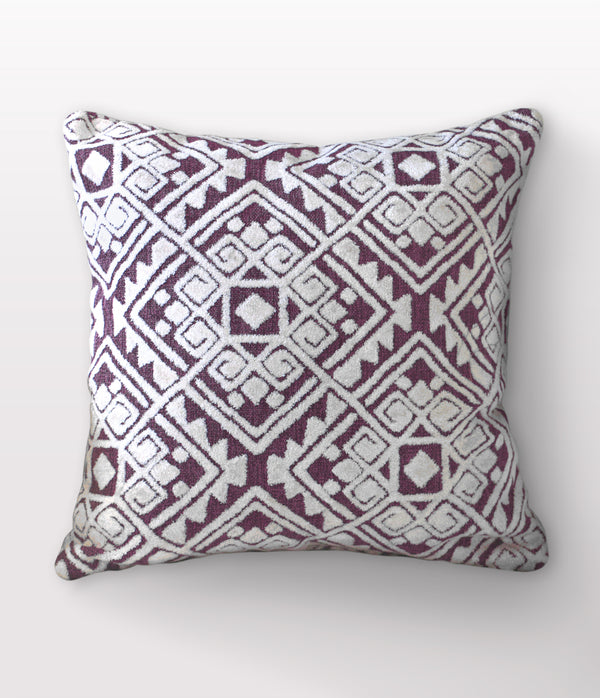 "Maya Plum Throw Pillow - 24"" x 24"""