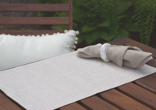Nautical Grey Cotton + Hemp Placemat