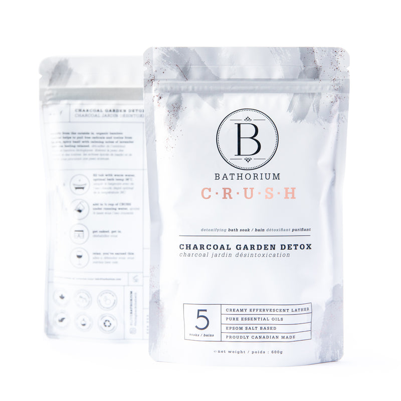 CRUSH Bath Soak - Charcoal Garden Detox
