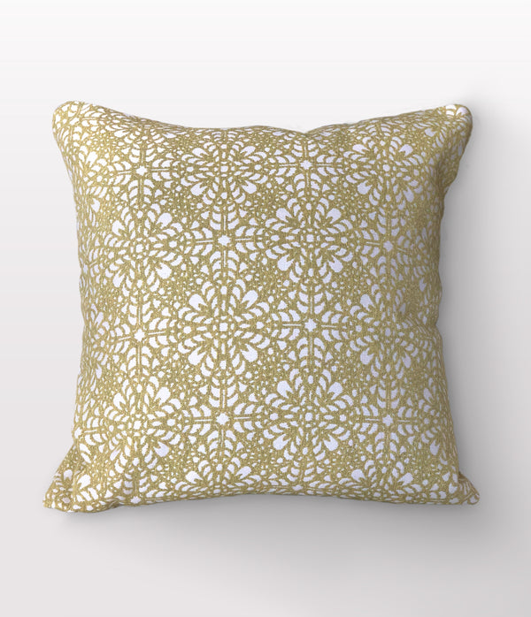 "Tessa Citrine Throw Pillow - 22"" x 22"""