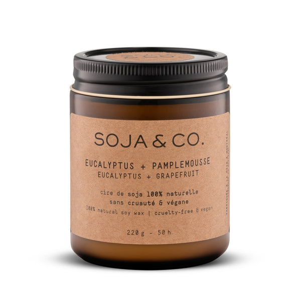 Soy Candle - Eucalyptus + Grapefruit 237 ml