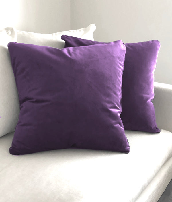 "Naomi Deep Purple Throw Pillow - 24"" x 24"""