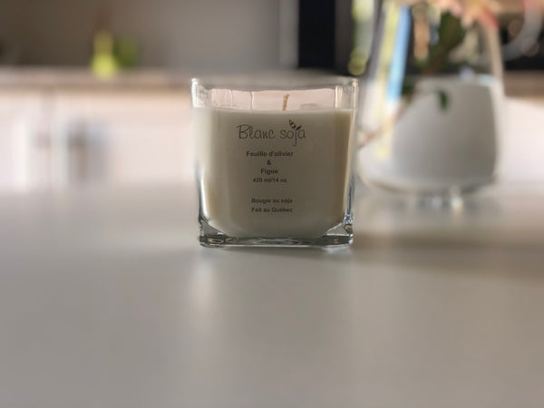 Soy Candle 420 ml - Olive Leaf + Fig