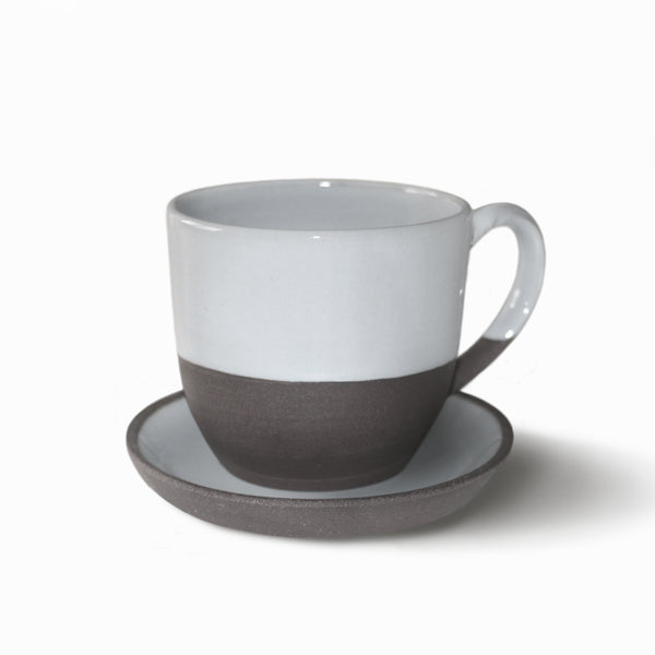 Dark Sandstone Stoneware Small Coffee Cups - Set of 2