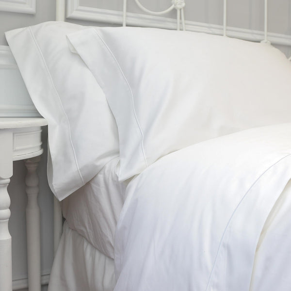White - Imperial Hotel Luxury Duvet Cover - 100% Egyptian Cotton Sateen