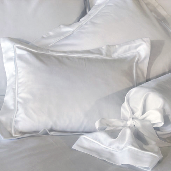 White - Imperial Hotel Luxury Pillow Sham - 100% Egyptian Cotton Sateen