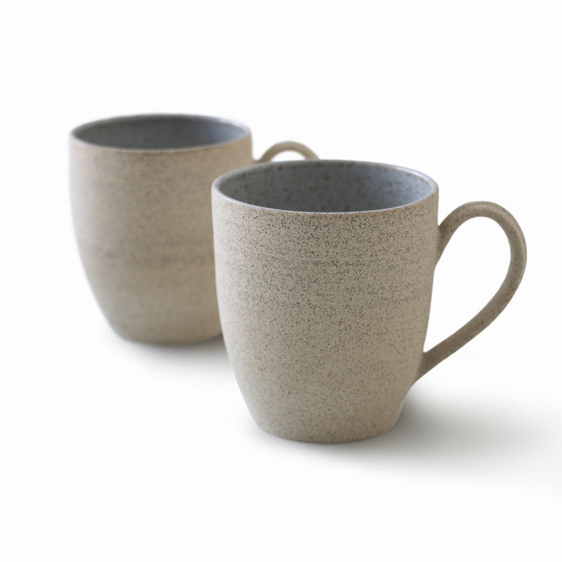Speckled Sand Stoneware - Large Mugs - Set of 2