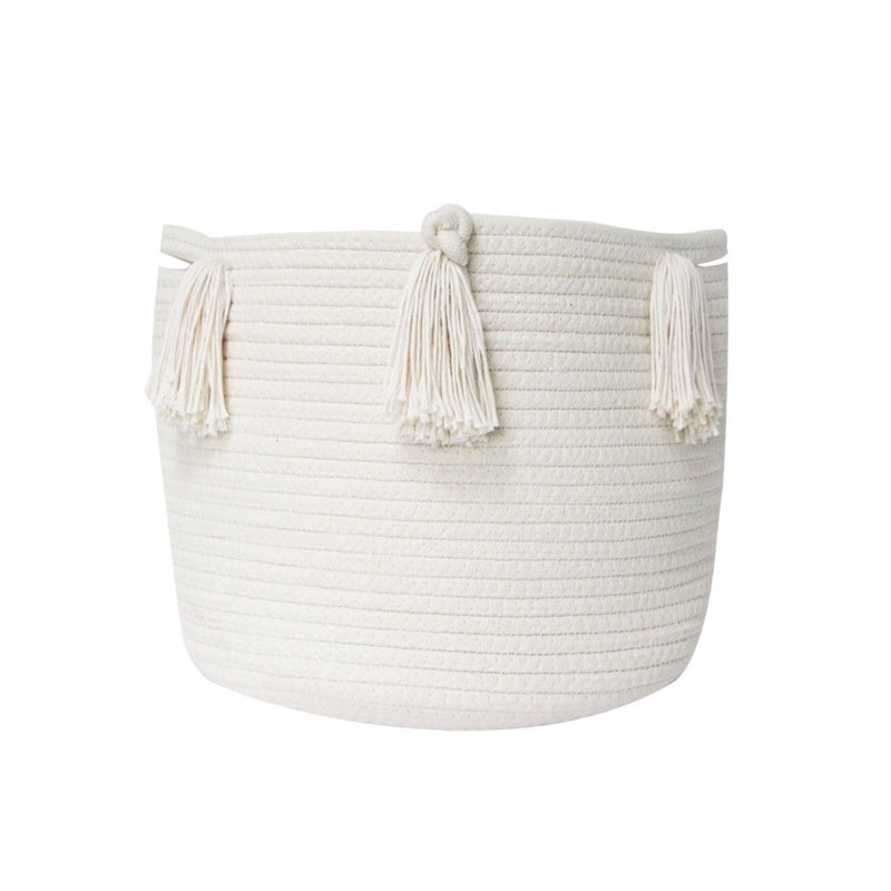 Medium Tassel Basket - Natural