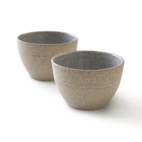 Speckled Sand Stoneware Small Dip Bowls - Set of 2