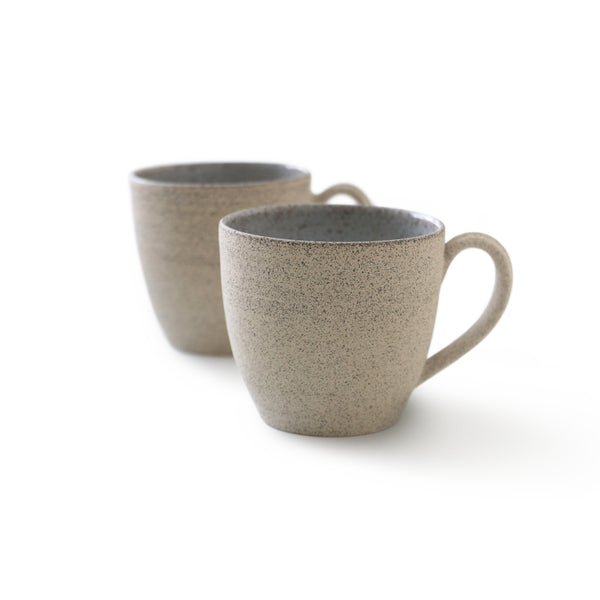 Speckled Sand Stoneware Small Coffee Cups - Set of 2