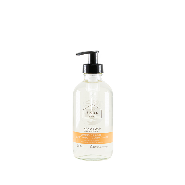 The Bare Home Hand Soap - Blood Orange, Bergamot + Sandalwood