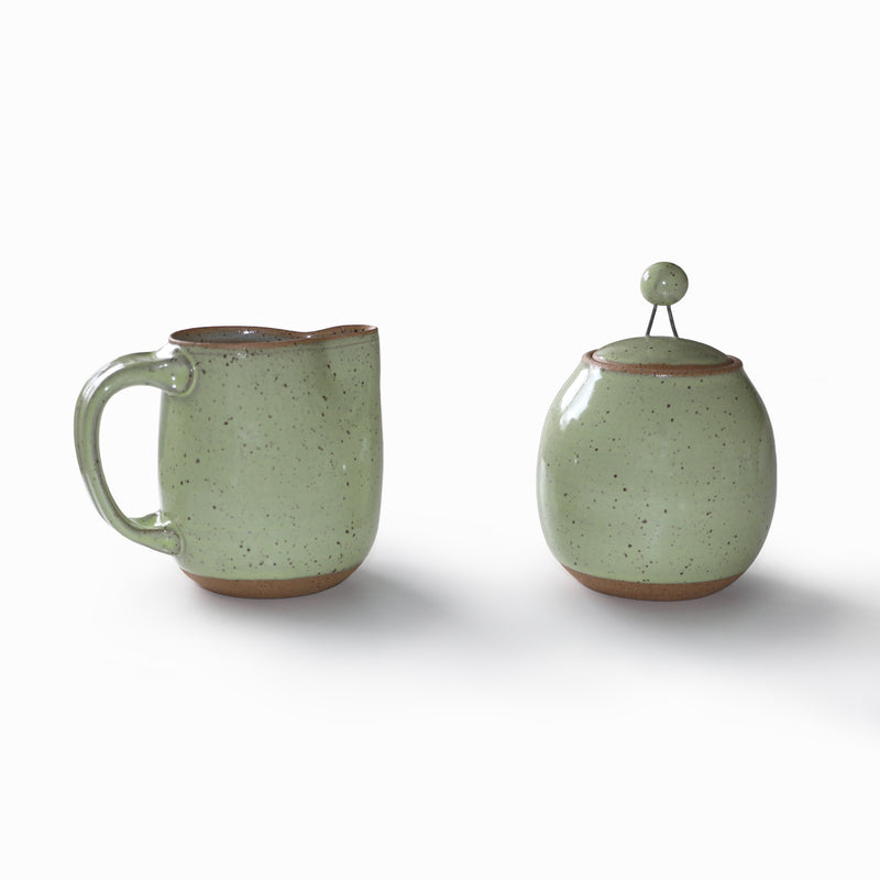 Simply Speckled Collection Creamer - Green
