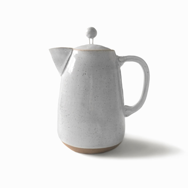 Simply Speckled Collection Coffee Pot - White