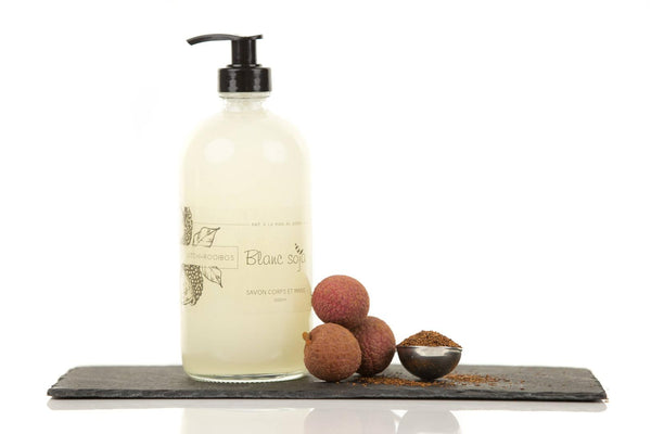 Liquid Hand & Body Soap - 1000 ml (refill pouch) - Lychee + Rooibos