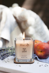 Soy Candle 220 ml - Peach + Lavender