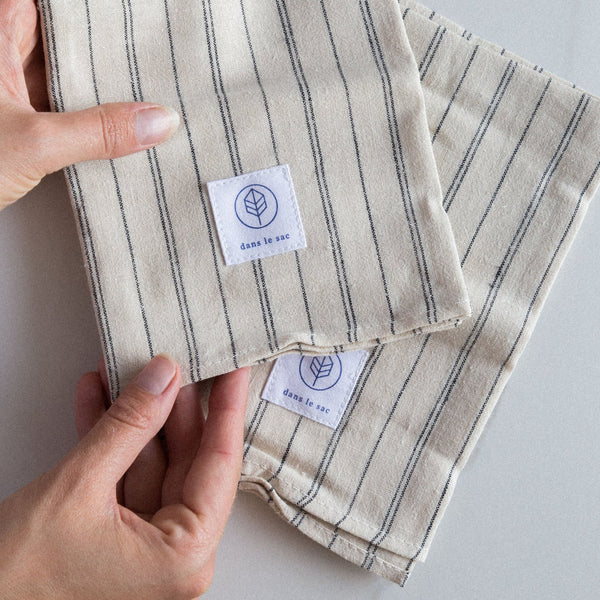 Reusable Cotton + Hemp Napkins -  2 per pack