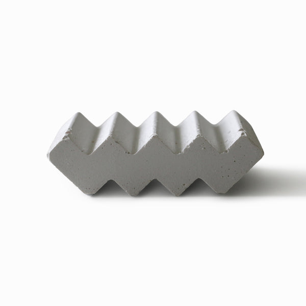 Modern Waved Concrete Soap Dish - White