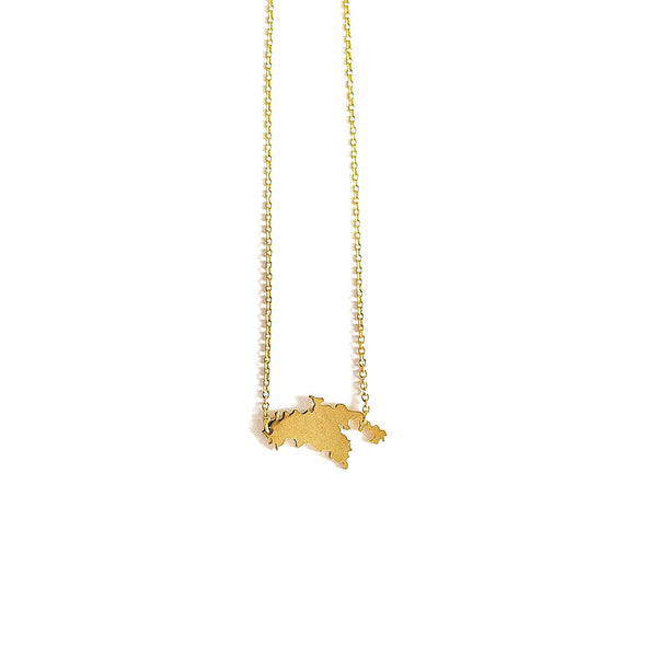 St. John Map Necklace