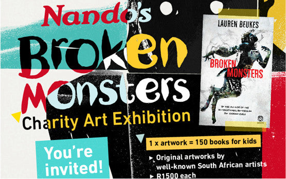 Natalie Vice exhibiting at Broken Monsters Charity Art Show