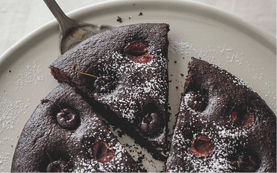 21 Days of gratitude recipe: Cherry Chocolate Brownie Cake