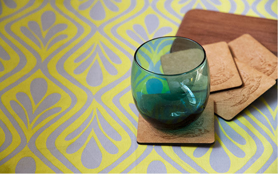 Drink up with our Wooden Drink Coasters