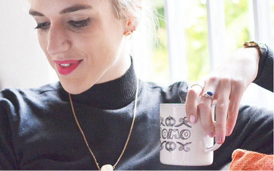 WIN a YOLO + FOMO Coffee Mug with Glitz and Grammar