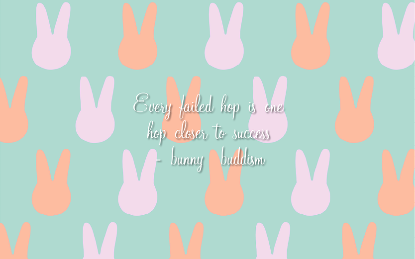 Free Inspirational Bunny Wallpaper download