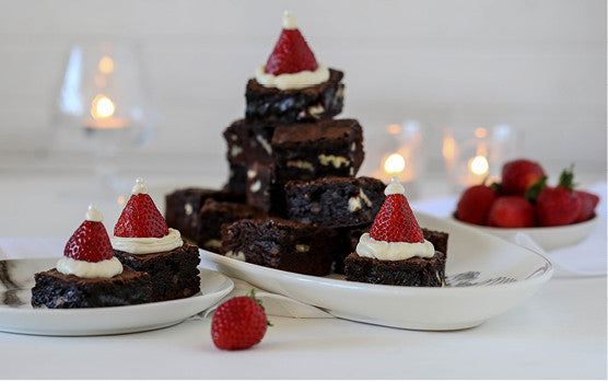 21 Days of gratitude recipe: Christmas Brownies with Santa's hats